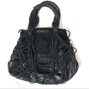 Authentic DIESEL Ropes Leather Purse Hobo Bag